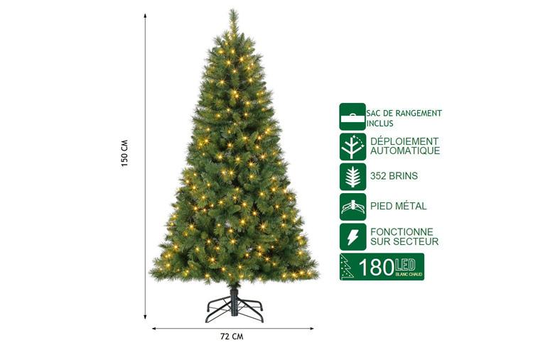 Polygroup Sapin de Noël 150 cm avis